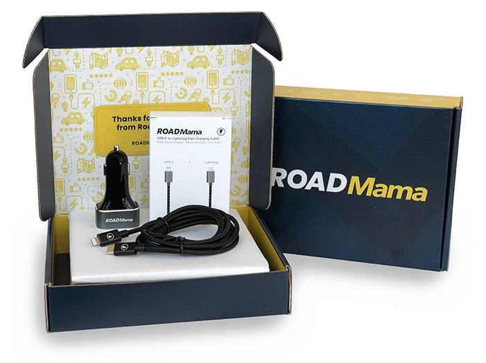 Road Mama iPhone Bundle - Fastest Car Charger for iPhone